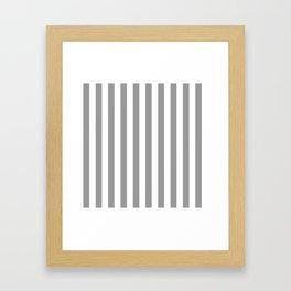 Vertical Stripes Gray & White Framed Art Print
