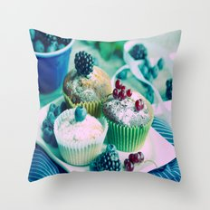Fresh fruits Vintage kitchen Design Throw Pillow
