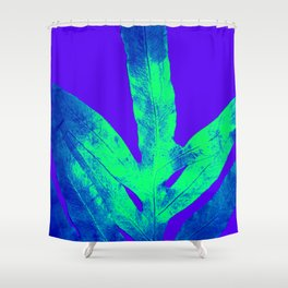 Blue Ultraviolet Green Earth Day Fern Shower Curtain