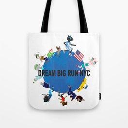 Dream big fun NYC fashionista cats Tote Bag