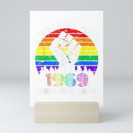 90's Style Stonewall Riots 50th NYC Gay Pride LGBTQ Rights  T-Shirt Mini Art Print