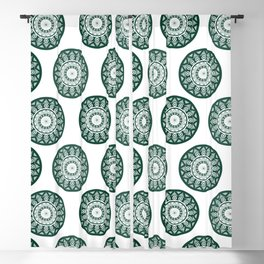 Dark Green Mandala Pattern Blackout Curtain