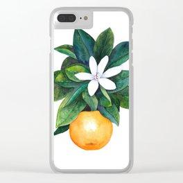 Citrus Flower Clear iPhone Case