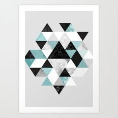 Graphic 202 Turquoise Art Print
