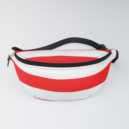 Australian Flag Red and White Wide Horizontal Cabana Tent Stripe Fanny Pack