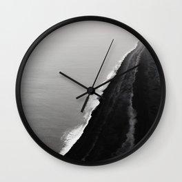 Black Sand Beach, Iceland Wall Clock