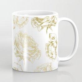 Gold Roses Coffee Mug