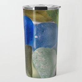 New England Beach Glass Travel Mug