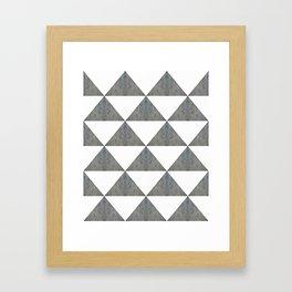 Cement White Triangles Framed Art Print