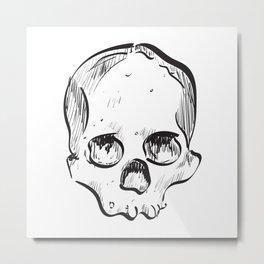 Clumsy Skull Metal Print