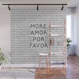 More Amor Black & Red, Heart Pattern Wall Mural