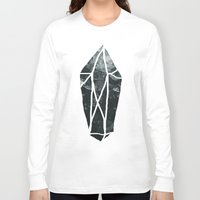 geode Long Sleeve T-shirts featuring Dark Crystal by Leah Flores