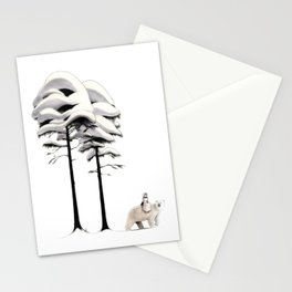 East of the Sun and West of the Moon - Walk in the Snow Stationery Cards