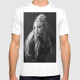 Billie Eilish Black White T-shirt