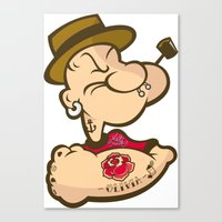 popeye Canvas Prints featuring POPEYE by Valter Brum