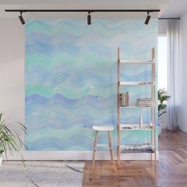 Water Color Ocean Wave Aqua Wall Mural