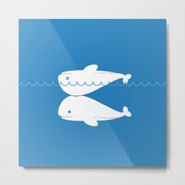 Whale resuscitation Metal Print