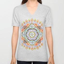 Passion Flower Mandala Unisex V-Neck