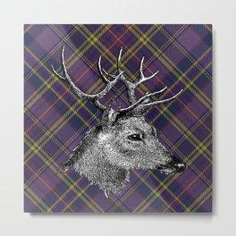 Tartan Deer Metal Print