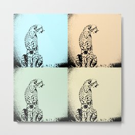 Pop Art Pastel Cheetah - Help fund education for impoverished kids in Malawi, Africa.  #MoreThanAid. Metal Print
