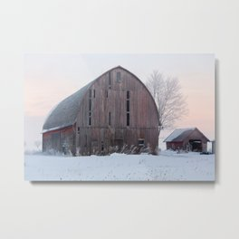 Soft Sunrise on a Winter's Morning Metal Print