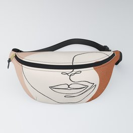 Line Facial Features Fanny Pack