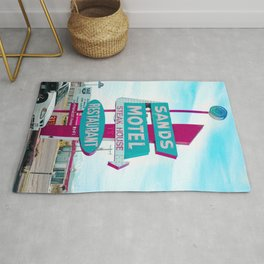 Sands Motel Retro Pop Art Rug