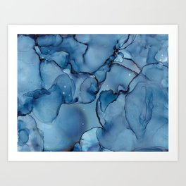 Daydreaming Abstract Painting Liquid Art Art Print