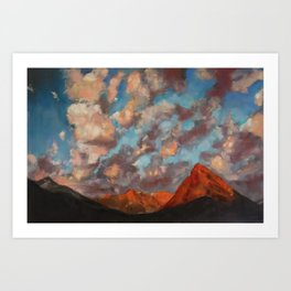 Clouds aren't gray version 2 Art Print