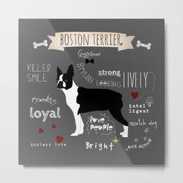 Boston Terrier Metal Print