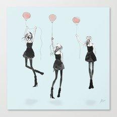 Girls Afloat Canvas Print
