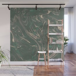 Adrift - Abstract Suminagashi Marble Series - 03 Wall Mural