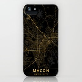 Macon, United States - Gold iPhone Case