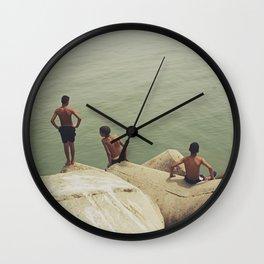 Baigneurs d'Essaouira Wall Clock