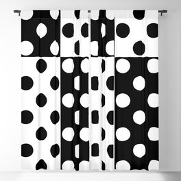 simple , black and white pattern , polka dot Blackout Curtain
