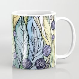 Dandelions.Hand draw  ink and pen, Watercolor, on textured paper Coffee Mug