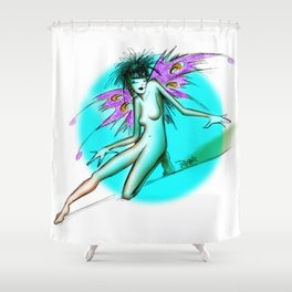 Faerie Turquoise Shower Curtain