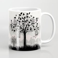 Paper landscape B&W Mug
