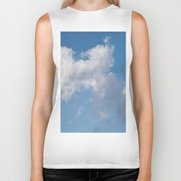 Floating cotton candy with blue Biker Tank
