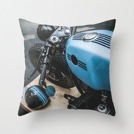 Custom blue beast Throw Pillow