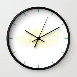 So Much Free Time Wall Clock
