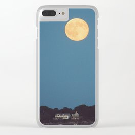 Moon over Stony Creek Clear iPhone Case