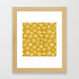 Mystic Eyes – Marigold Palette Framed Art Print