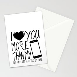 Valentine gift - I Love you more Stationery Cards