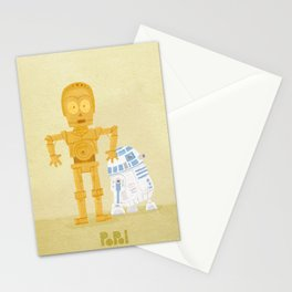 C3PO and R2D2 Stationery Cards
