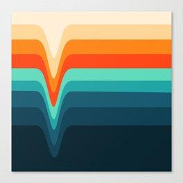 Retro Verve Canvas Print