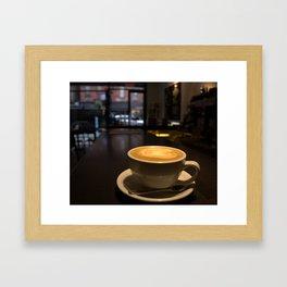 Cat Cafe Framed Art Print
