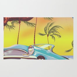 Destin Florida USA vintage style travel poster Rug