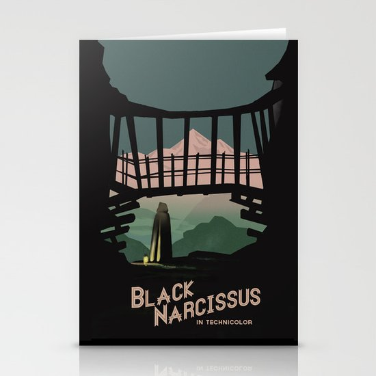 Black Narcissus Stationery Cards