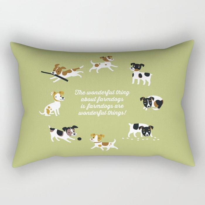 Farmdogs are wonderful things Rectangular Pillow